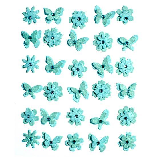 Adesivo-Charme-de-Papel-Flores-e-Borboletas-Azul-Algodao-Doce-AD1733---Toke-e-Crie