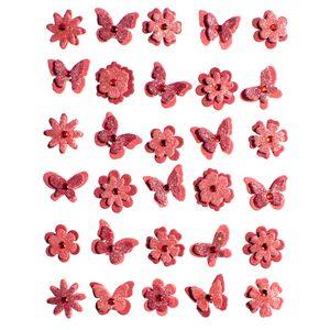 Adesivo-Charme-de-Papel-Flores-e-Borboletas-Vermelho-Algodao-Doce-AD1736---Toke-e-Crie
