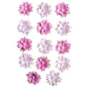 Flores-Artesanais-Daphne-Rosa-Colecao-Algodao-Doce-FLOR151---Toke-e-Crie