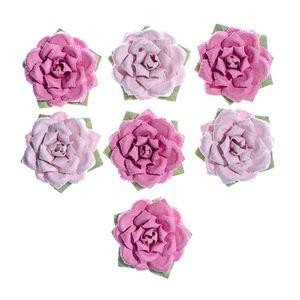 Flores-Artesanais-Rosas-cor-Rosa-Colecao-Algodao-Doce-FLOR154---Toke-e-Crie
