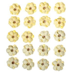 Flores-Artesanais-Sininhos-Amarelo-Colecao-Algodao-Doce-FLOR130---Toke-e-Crie
