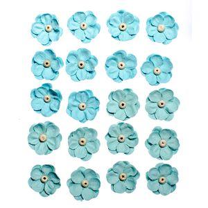 Flores-Artesanais-Sininhos-Azul-Colecao-Algodao-Doce-FLOR131---Toke-e-Crie
