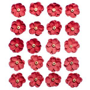 Flores-Artesanais-Sininhos-Vermelho-Colecao-Algodao-Doce-FLOR135---Toke-e-Crie
