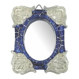 Moldura-Colonial-Cantoneira-e-Oval-com-Espelho-Azul-e-Branco-Craquele-10x13cm---Resina