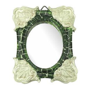 Moldura-Colonial-Cantoneira-e-Oval-com-Espelho-Verde-e-Branco-Craquele-10x13cm---Resina