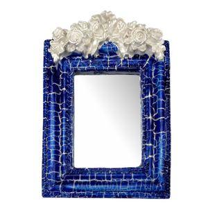 Moldura-Provencal-Retangular-Rosas-com-Laco-com-Espelho-Azul-e-Branco-Craquele-135x92cm---Resina