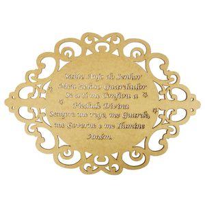 Moldura-em-MDF-Oval-Oracao-Santo-Anjo-do-Senhor-30x215cm-Provencal---Palacio-da-Arte