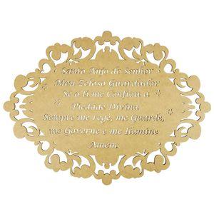 Moldura-em-MDF-Oval-Oracao-Santo-Anjo-do-Senhor-50x36cm-Colonial---Palacio-da-Arte