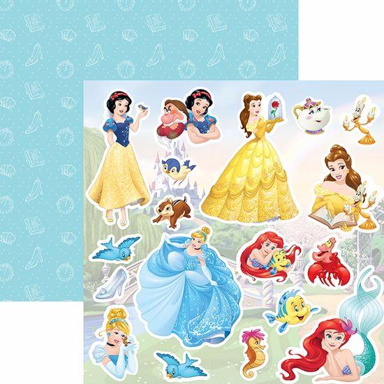 Papel-Scrapbook-Dupla-Face-305x305cm-Princesas-2-Recortes-SDFD-054---Toke-e-Crie