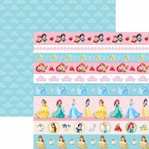 Papel-Scrapbook-Dupla-Face-305x305cm-Princesas-2-Faixas-SDFD-055---Toke-e-Crie