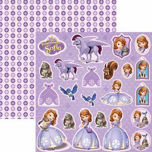 Papel-Scrapbook-Dupla-Face-305x305cm-Princesinha-Sofia-2-Recortes-SDFD-096---Toke-e-Crie