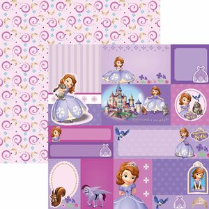Papel-Scrapbook-Dupla-Face-305x305cm-Princesinha-Sofia-2-Tags-SDFD-098---Toke-e-Crie