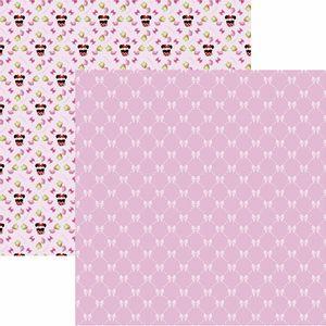 Papel-Scrapbook-Dupla-Face-305x305cm-Hora-do-Cha-com-a-Minnie-1-Estampado-SDFD-129---Toke-e-Crie
