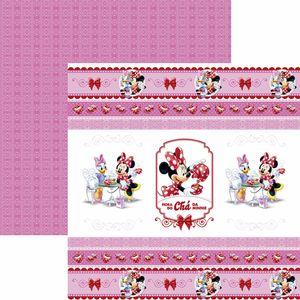 Papel-Scrapbook-Dupla-Face-305x305cm-Hora-do-Cha-com-a-Minnie-1-Fitas-e-Rotulos-SDFD-126---Toke-e-Crie