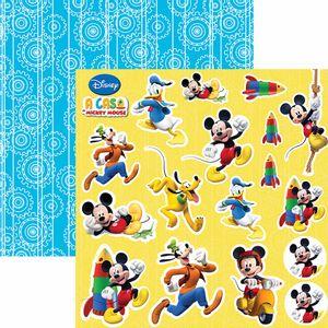 Papel-Scrapbook-Dupla-Face-305x305cm-A-Casa-do-Mickey-2-Recortes-SDFD-104---Toke-e-Crie