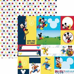 Papel-Scrapbook-Dupla-Face-305x305cm-A-Casa-do-Mickey-2-Tags-SDFD-106---Toke-e-Crie