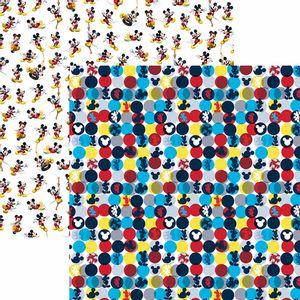 Papel-Scrapbook-Dupla-Face-305x305cm-A-Casa-do-Mickey-1-Estampado-SDFD-122---Toke-e-Crie