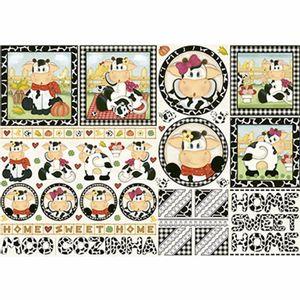 Papel-Decoupage-343x49cm-Vacas-Home-Sweet-Home-PD-455---Litoarte