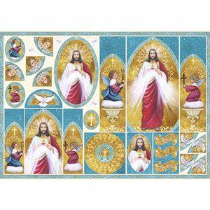 Papel-Decoupage-343x49cm-Sagrado-Coracao-de-Jesus---Oratorio-PD-849---Litoarte