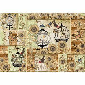 Papel-Decoupage-343x49cm-Gaiola-com-Passaros-Love-PD-299---Litoarte
