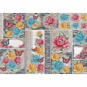 Papel-Decoupage-343x49cm-Rosas-com-Animal-Print-PD1-056---Litoarte-by-Lili-Negrao