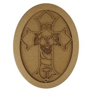 Quadro-Moldura-em-MDF-Oval-Crucifixo-355x27cm---Palacio-da-Arte