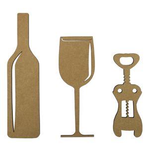 Aplique-Acessorios-para-Vinho-25cm-em-MDF-com-3-pecas---Palacio-da-Arte
