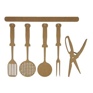 Aplique-Utensilios-de-Cozinha-25cm-em-MDF-com-6-pecas---Palacio-da-Arte