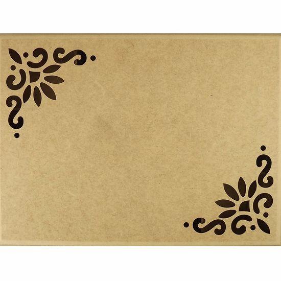 Caixa-Tupiada-em-MDF-com-12-divisoes-Flores-325x24cm---Escrita-Personalizada-15cm---Palacio-da-Arte