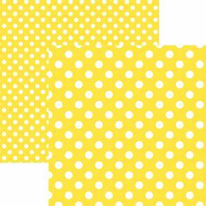 Papel-Scrapbook-Dupla-Face-Basico-305x305cm-Poa-Grande-Amarelo-KFSB469---Toke-e-Crie-by-Mariceli