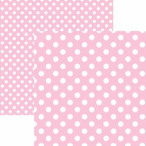 Papel-Scrapbook-Dupla-Face-Basico-305x305cm-Poa-Grande-Rosa-Claro-KFSB480---Toke-e-Crie-by-Mariceli
