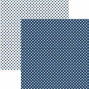 Papel-Scrapbook-Dupla-Face-Basico-305x305cm-Poa-Pequeno-Azul-Marinho-KFSB452---Toke-e-Crie-by-Mariceli