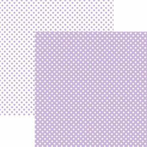 Papel-Scrapbook-Dupla-Face-Basico-305x305cm-Poa-Pequeno-Lilas-Claro-KFSB456---Toke-e-Crie-by-Mariceli