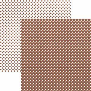 Papel-Scrapbook-Dupla-Face-Basico-305x305cm-Poa-Pequeno-Marrom-KFSB458---Toke-e-Crie-by-Mariceli