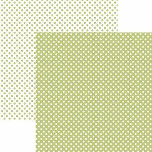 Papel-Scrapbook-Dupla-Face-Basico-305x305cm-Poa-Pequeno-Verde-Claro-KFSB462---Toke-e-Crie-by-Mariceli