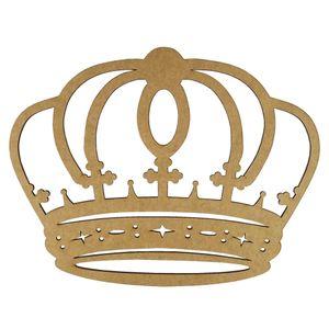 Aplique-Coroa-Arredondada-em-MDF-10x78cm---Palacio-da-Arte