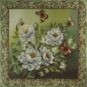 Guardanapo-Decoupage-Rosas-Brancas-com-Borboletas-2-unidades-GBM010---Toke-e-Crie-by-Mamiko