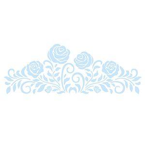 Stencil-para-Pintura-e-Confeitaria-38x15cm-Rosas-SC5-003---Litoarte
