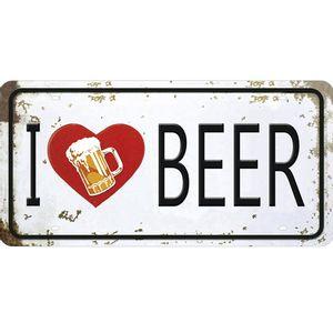Placa-Decorativa-15x30cm-I-Love-Beer-LPD-055---Litocart