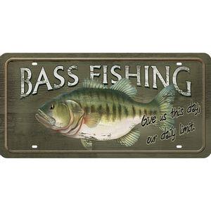 Placa-Decorativa-15x30cm-Bass-Fishing-LPD-066---Litocart