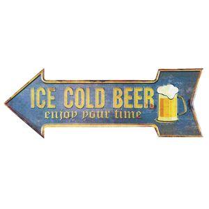 Placa-Decorativa-15x30cm-Ice-Cold-Beer-LPDR-013---Litocart