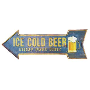 Placa-Decorativa-15x30cm-Ice-Cold-Beer-LPDR-013---Litocart