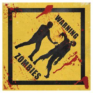 Placa-Decorativa-20X20cm-Warning-Zombies-LPDXX-001---Litocart