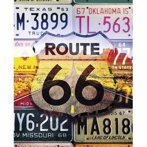 Placa-Decorativa-245x195cm-Route-66-LPMC-080---Litocart