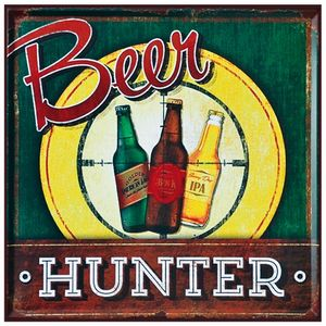 Placa-Decorativa-25x25cm-Beer-Hunter-LPQC-040--Litocart