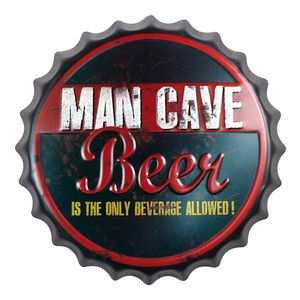 Placa-Decorativa-25x25cm-Man-Cave-Beer-LPQC-028---Litocart