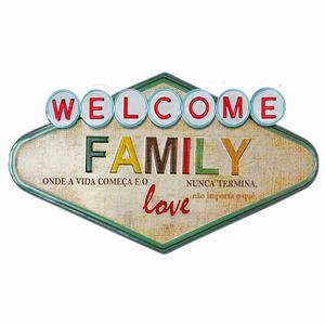 Placa-Decorativa-32x215cm-Welcome-Family-LPQM-030---Litocart