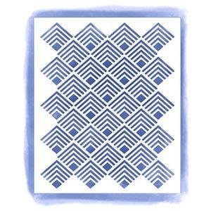 Stencil-para-Pintura-Simples-18x15cm-Textura-Losangos-STA2-019---Litoarte