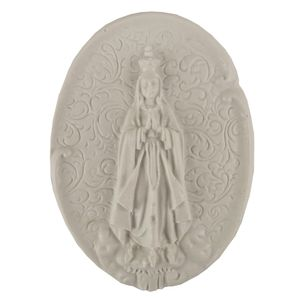 Aplique-Religioso-Oval-Nossa-Senhora-de-Fatima-105x78cm---Resina
