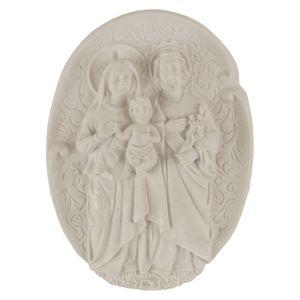 Aplique-Religioso-Oval-Sagrada-Familia-108x8cm---Resina